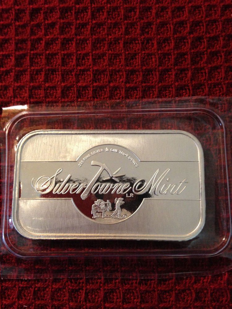1 Oz Silvertowne Mint 999 Pure Silver Bar 1 Troy Ounce Silver Bars Pure Silver Silver Bullion