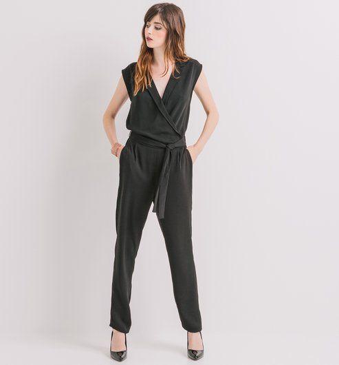 combinaison pantalon femme noir promod style pinterest combinaison pantalon combinaison. Black Bedroom Furniture Sets. Home Design Ideas