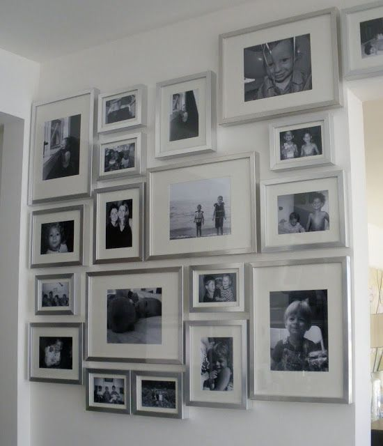 Using Silver Frames These Can Be Sourced At Michael S Ikea Consider Large Photos For Greater Impact