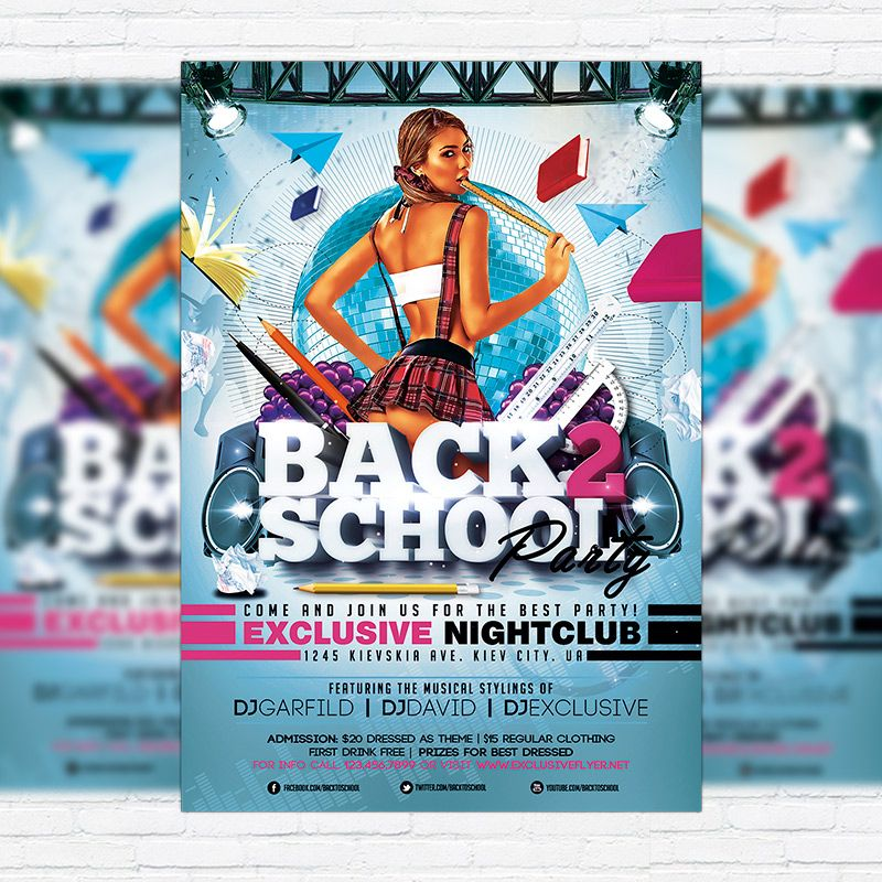 Back  School Party  Premium Flyer Template  Facebook Cover Http
