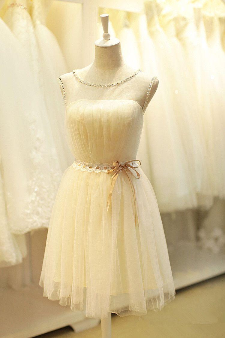 Aline jewel beaded tulle homecoming dress short homecoming