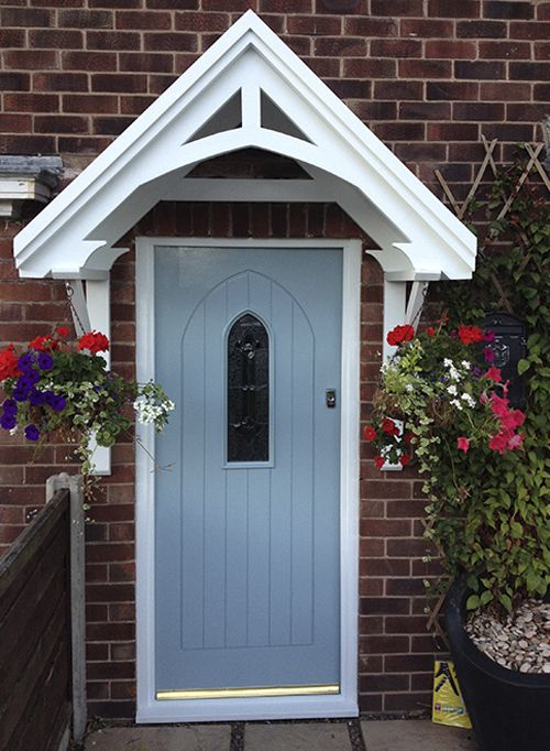 The Isabelle Door Canopy Is Very Easy To Build And Install Hand Made Using Scaninavian Pine And Spruce Timber The Front Door Canopy House Entrance Porch Awning