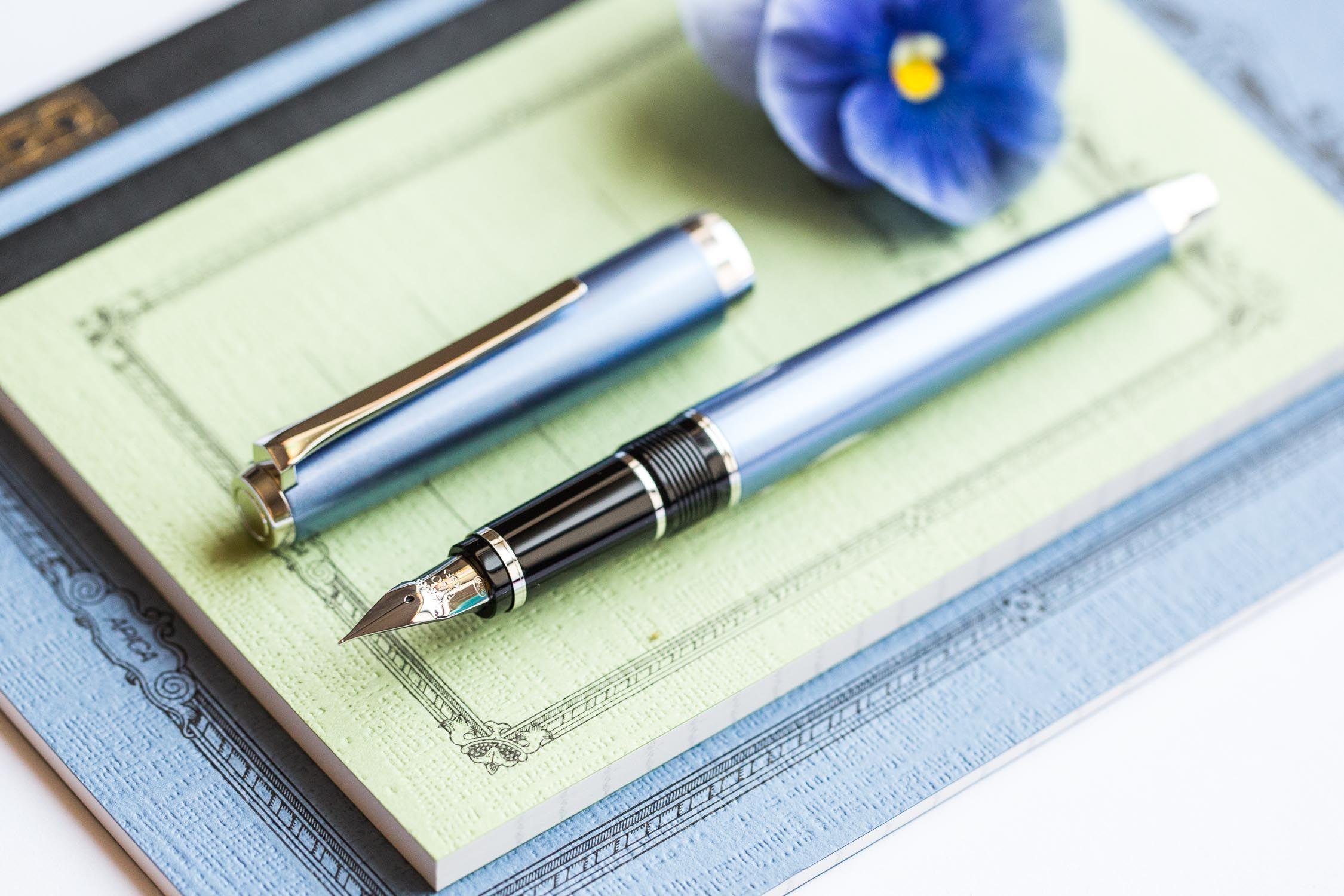 Pilot Metal Falcon Fountain Pen Sapphire Fountain Pen Goulet Pens Company Goulet Pens