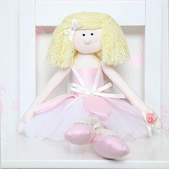 baby pink handmade rag doll