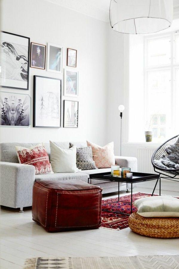 kleines Wohnzimmer in hellen Tönen, Wandgestaltung mit - kleine wohnzimmer