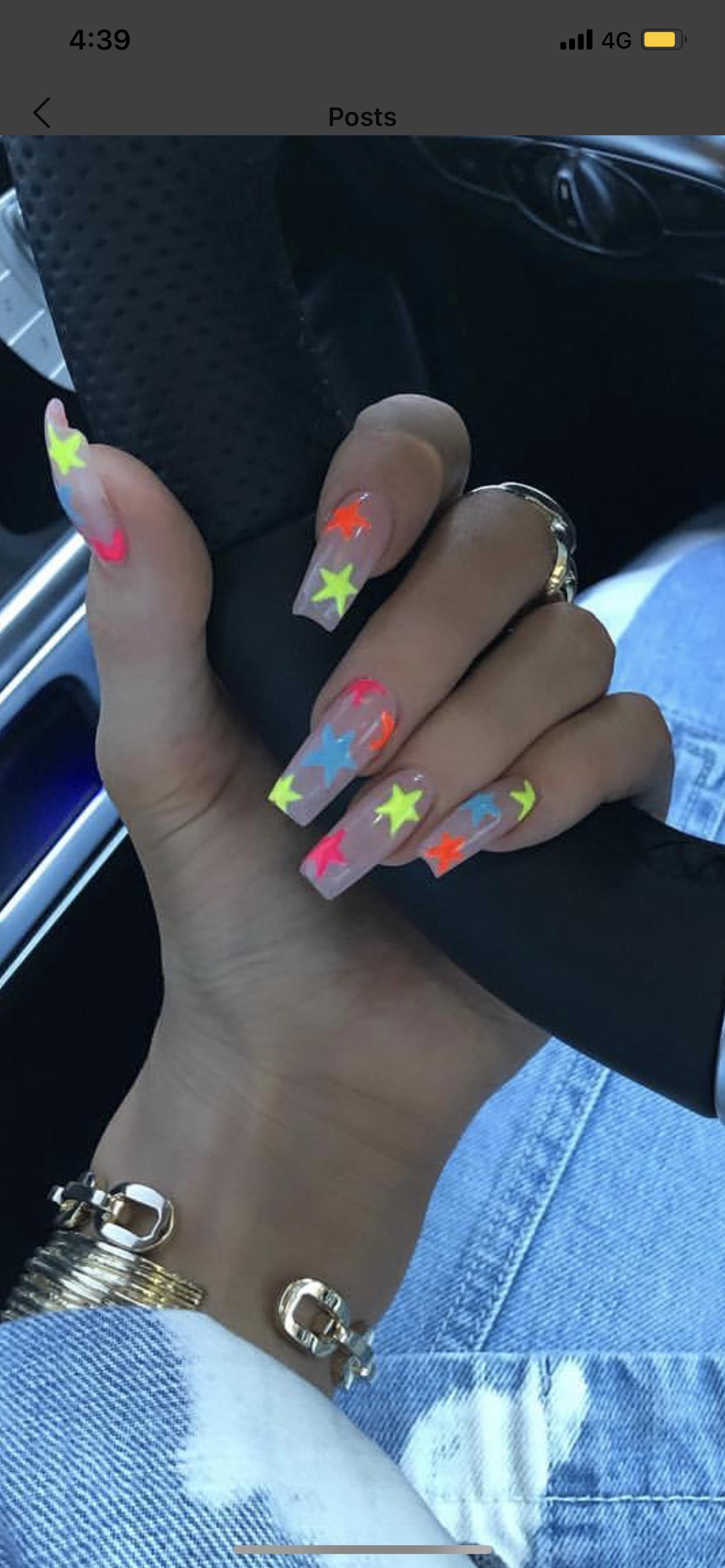 Pin By Anabel Dorali On Nails Kylie Nails Long Acrylic Nails Star Nail Art