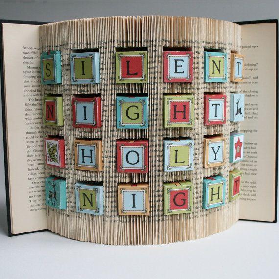 Book Folding Pattern + cuts Advent Calendar + Free printable