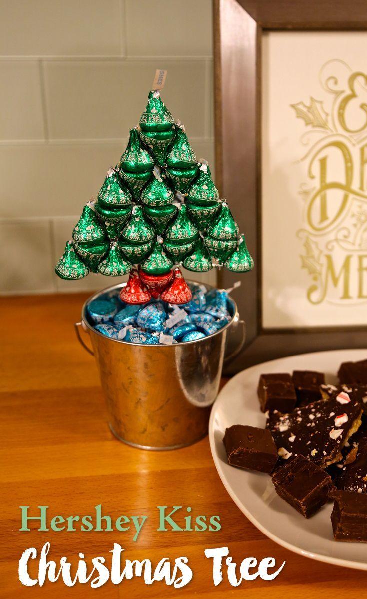 DIY HERSHEY\'S KISSES Christmas Tree | Hershey\'s kisses, Christmas ...