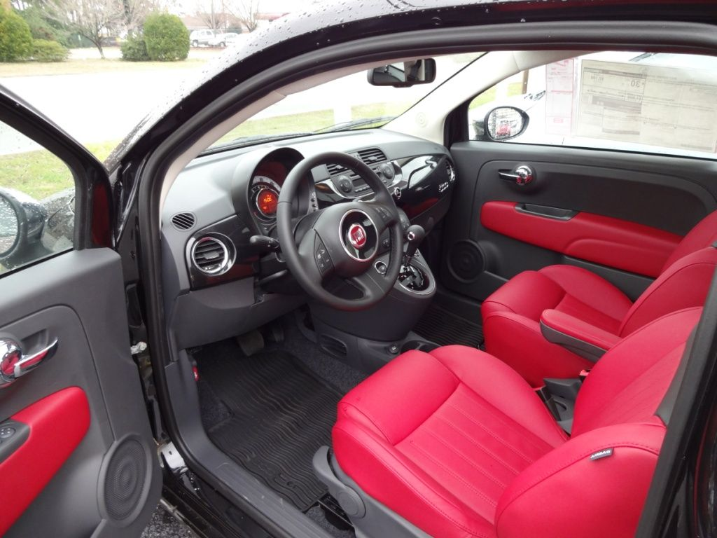 2013 Fiat 500 Lounge For Sale Wilmington Nc Red Leather Interior