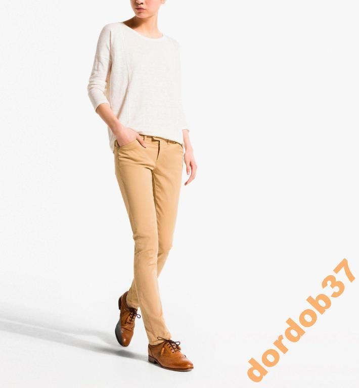 Massimo Dutti Bezowe Spodnie Eleganckie Roz 36 Fashion Khaki Khaki Pants