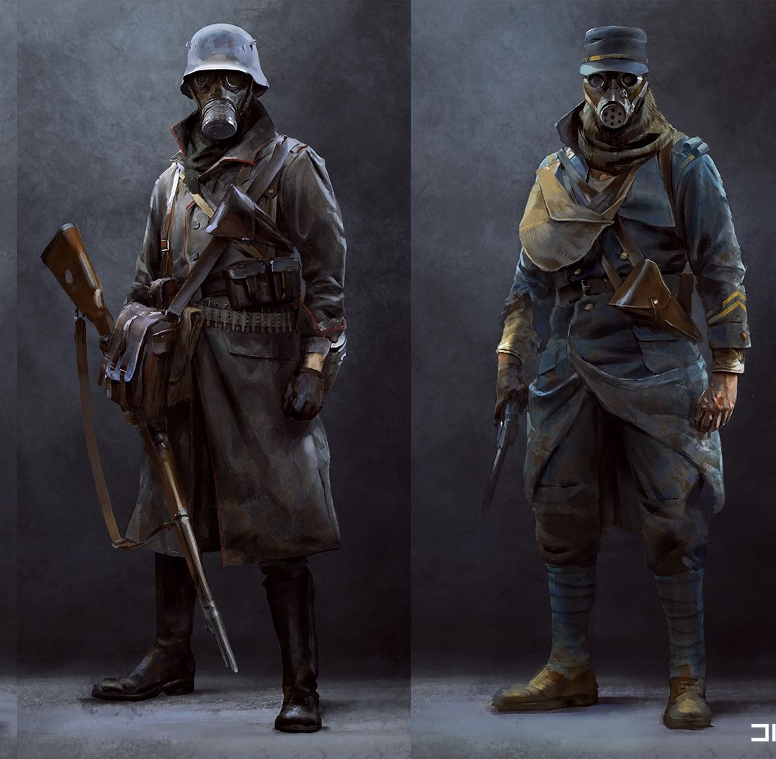 German And Austro Hungarian Soldiers Military Art Dieselpunk Concept Art Characters