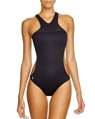 Lauren Ralph Polo High Piece Bonded One Swimsuit Neck lT1FKc3J