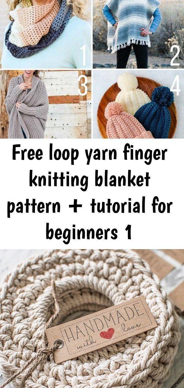 Hottest Pics finger knitting for beginners Style  Free loop yarn finger knitting blanket pattern + tutorial for beginners 1 Free beginner crochet pat