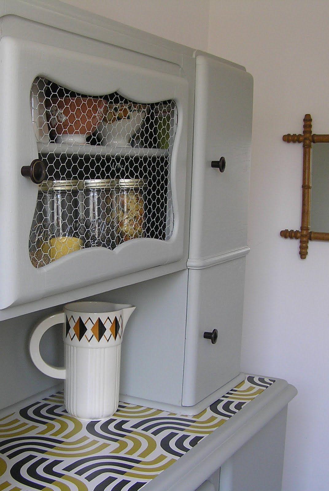 jaune moutarde buffet de cuisine ann es 50 cuisine en. Black Bedroom Furniture Sets. Home Design Ideas