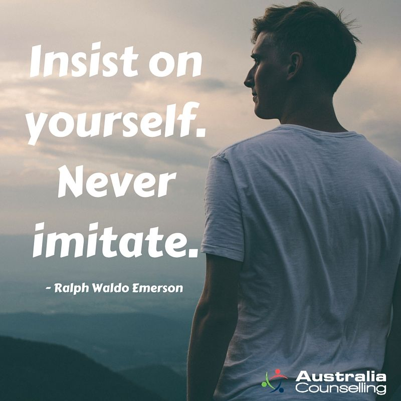 Insist on yourself never imitate ralph waldo emerson