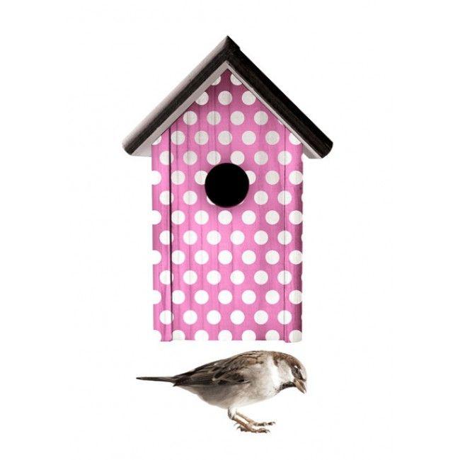 Home Sweet Home  - vogelhuis roze  @Jut en Juul Lifestyle for Kids