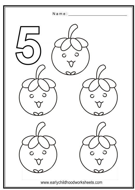 Coloring Numbers Fruits Theme Free Coloring Pages Star
