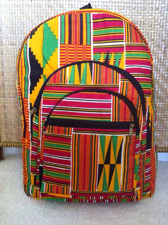 African Bag,African Fabric Bag, Back Pack, Book Bag, Overnight Bag ...