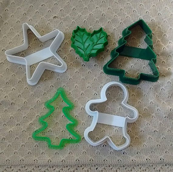 Vintage Christmas Cookie Cutter Collection Tree Gingerbread Man