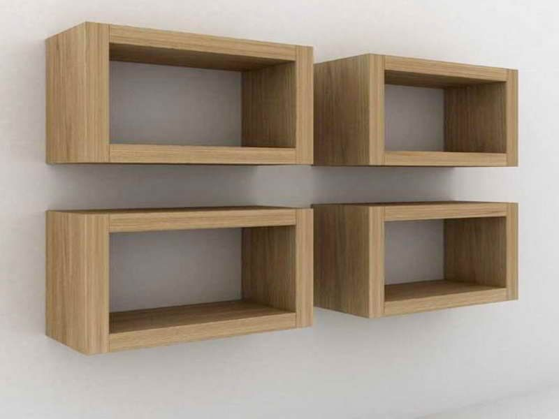 Exceptionnel Rectangle Floating Shelves For Powder Room