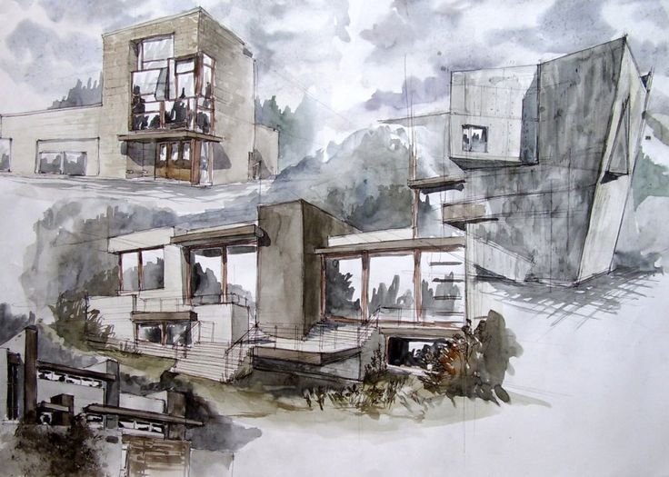 Delighful Cool Architecture Design Drawings Board To Completion Is