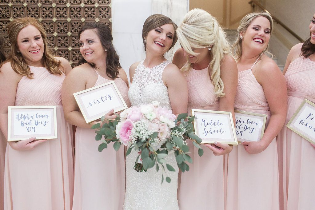 56f1d53df2f Bill Levkoff  Levkoff bridesmaid dresses in Petal Pink from Bella  Bridesmaids in Little Rock  BellaLittleRock Photo  Megan Hampel Photography