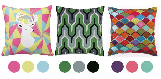 Color Inspiration from Pillows - we adore these color palettes for the #nursery!