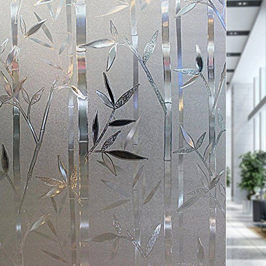 3D Textured Decorative Frosted Stained Glass Window Static Vinyl Privacy Film