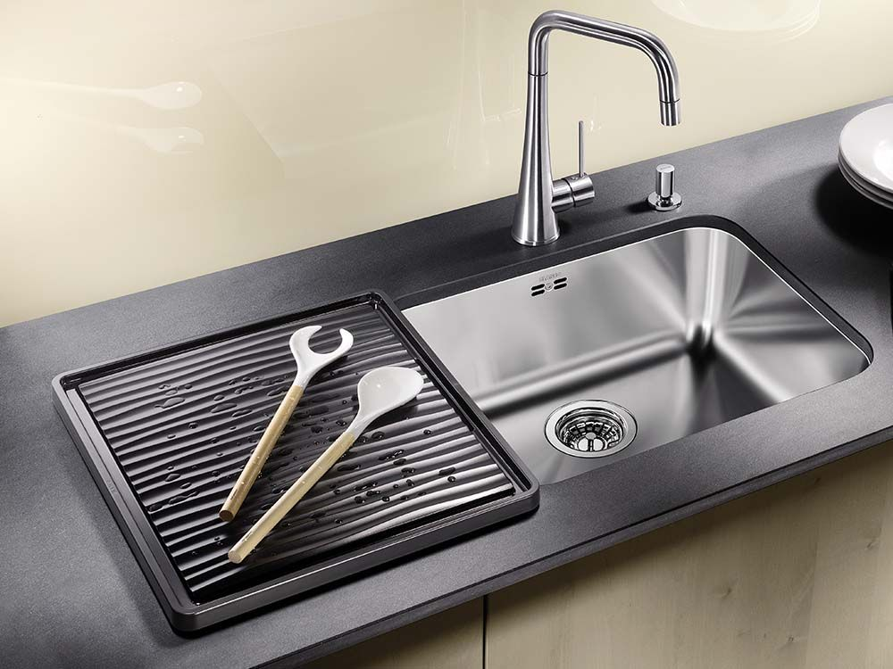Black Drainer For Undermounted Sinks Sinks Accessories