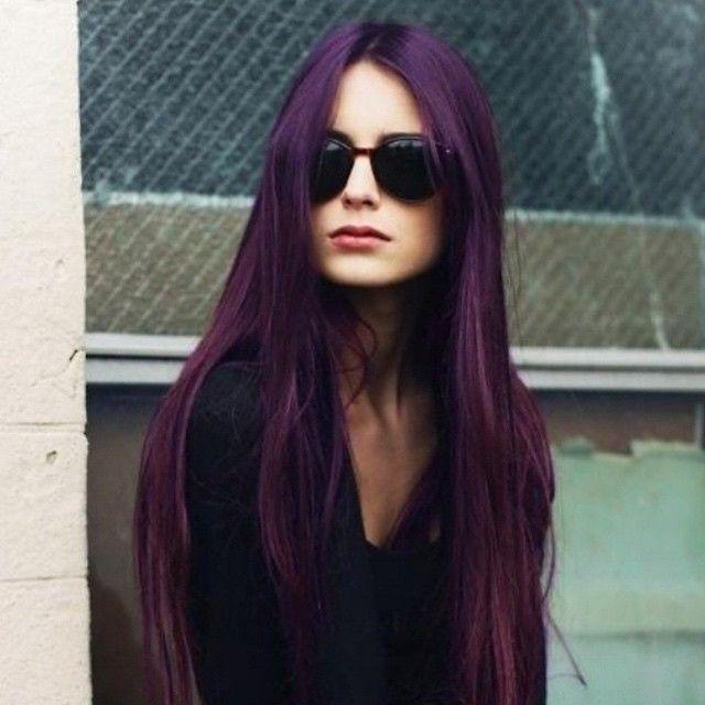 Plum Passion On Natural Light Brown Hair Manicpanic Plumpassion Purplehair Dyedhairdontcare Dyedhair Hair Styles Long Hair Styles Dark Purple Hair