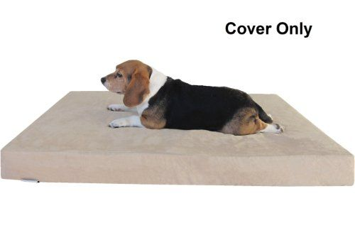 Tc 47x29x4 Xl Suede Fabric External Cover In Tan Color With Zipper For Dog Pet Bed Pad Replacement Cover O Dog Pet Beds Waterproof Dog Bed Memory Foam Dog Bed