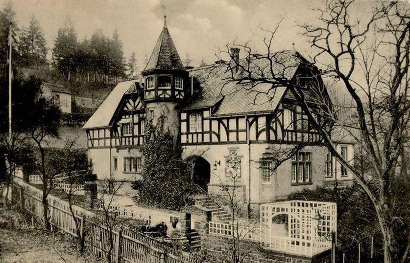 Couleurkarte Mit Haus Der 1874 Gegrundeten Burschenschaft Alemannia In Der Neuedb An Der Phillips Universitat Zu Marburg An Der Lahn Marburg Lahn Marburg Lahn