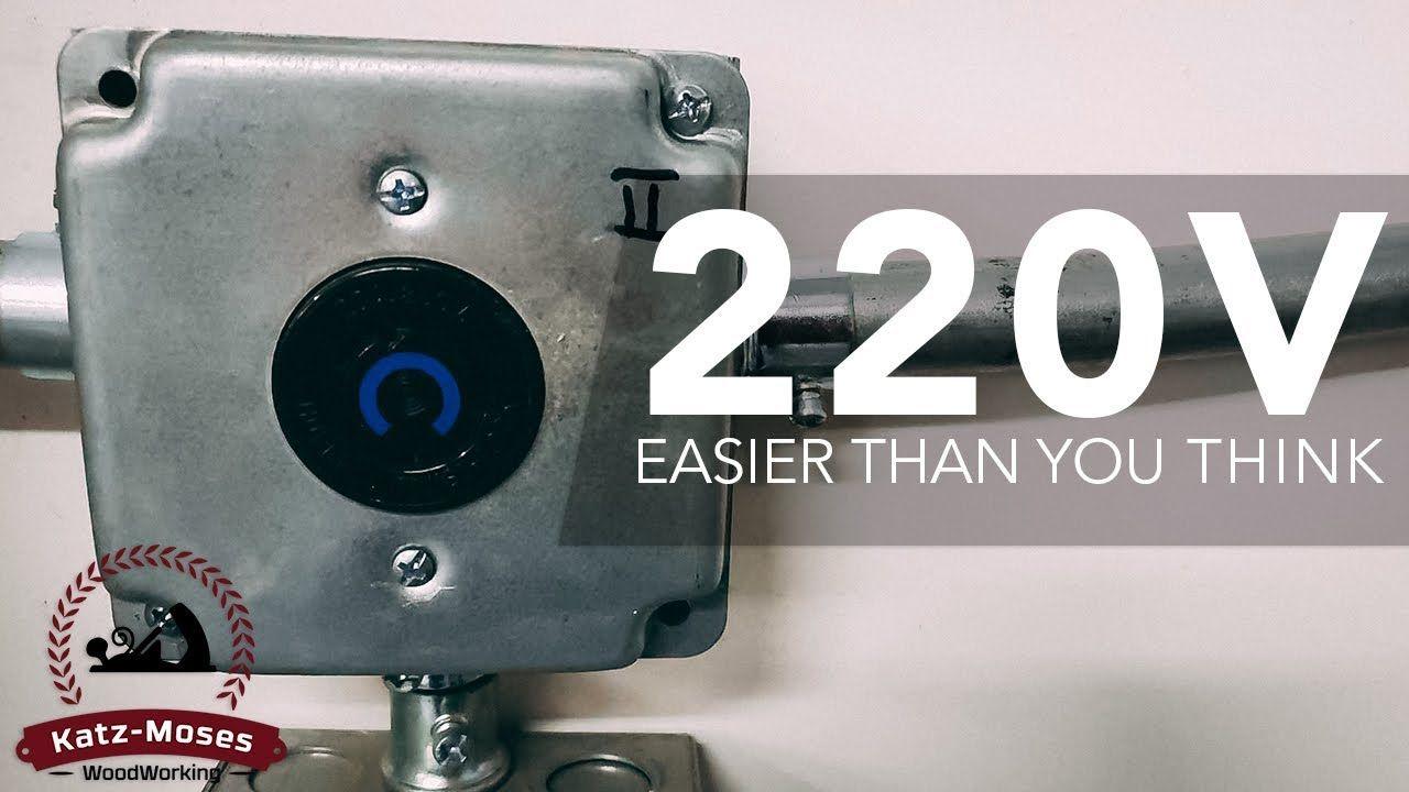Installing 220v Outlets In The Shop