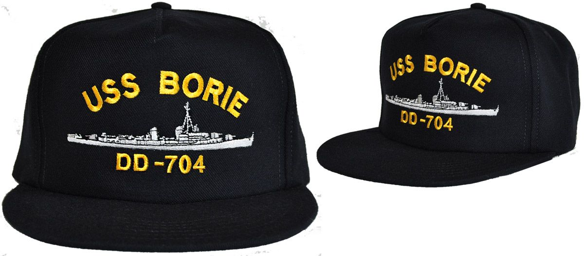 US Navy Ship Custom Cap: Now vesels can now be custom-embroidered on