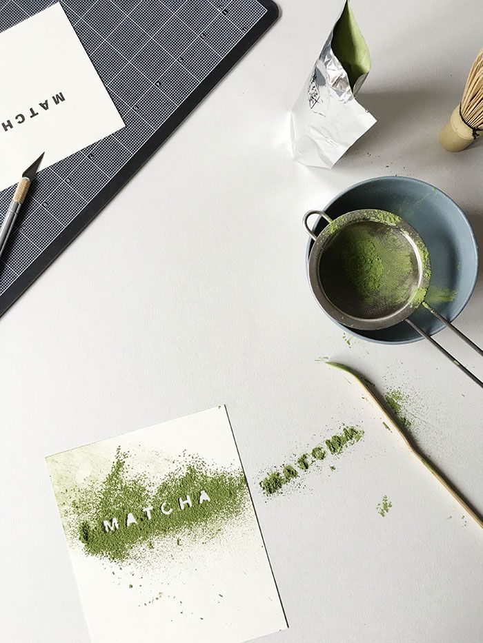 Experimenting with stencling #matcha. // Instagram: @Oh, How Civilized
