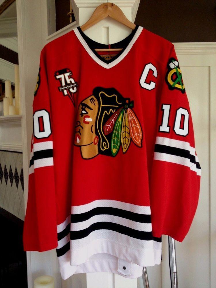 2000 01 Chicago Blackhawks Tony Amonte 1OO% Authentic Koho Pro Jersey 52 (eBay  Link) d71556be8