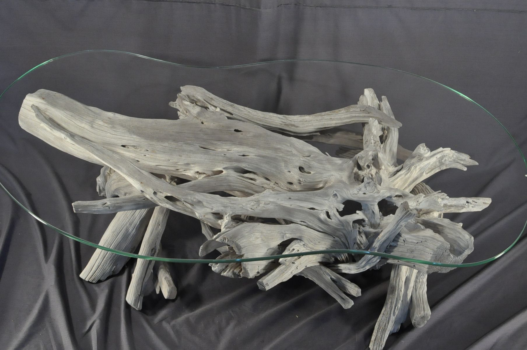 How+to+make+driftwood+coffee+table | Hand Crafted Sun Bleached Driftwood  And Glass Coffee Table By .