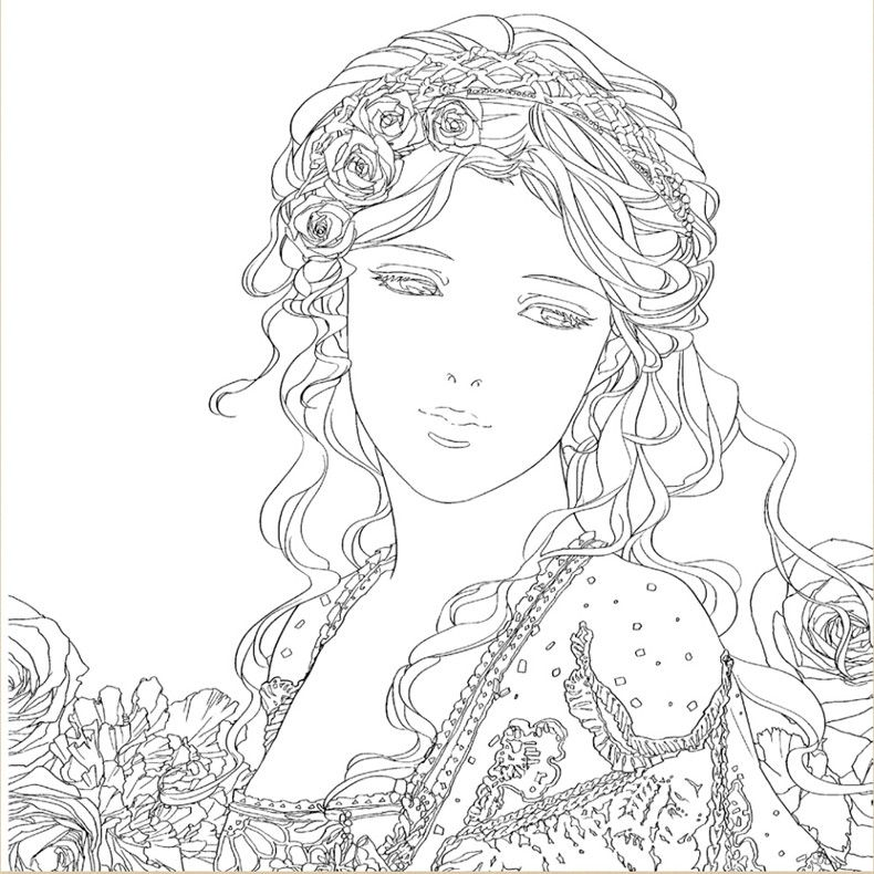 Beauty And The Beast Coloring Book For Adult Children Comic Relieve Stress Graffiti Secret Garden Art Design Books