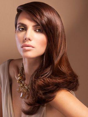 Color de cabello tono chocolate