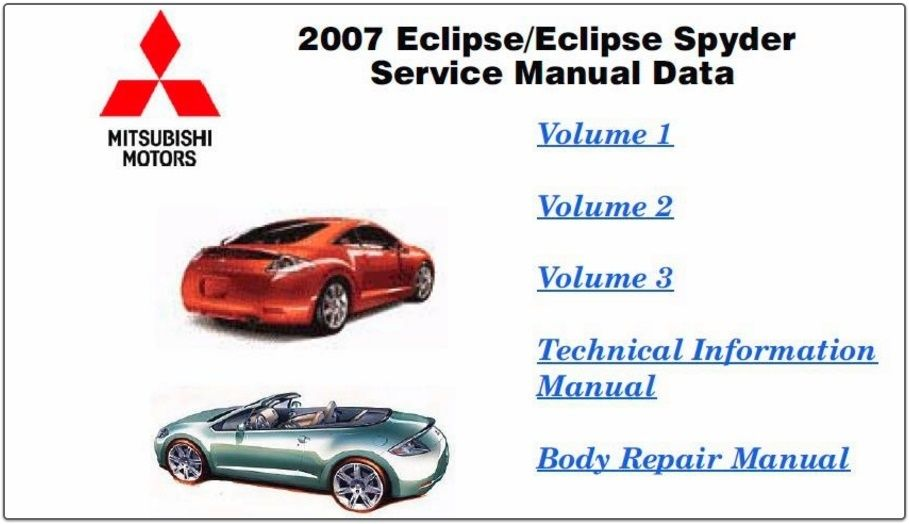 mitsubishi eclipse 2007 factory service manual cars pinterest rh pinterest com 2000 Eclipse 2004 Eclipse