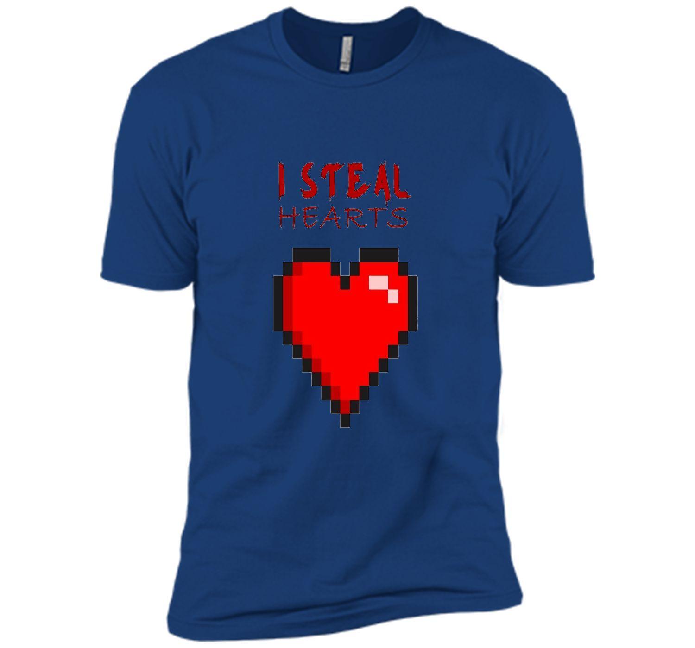 Short sleeve red heart valentineus day shirt women girls top