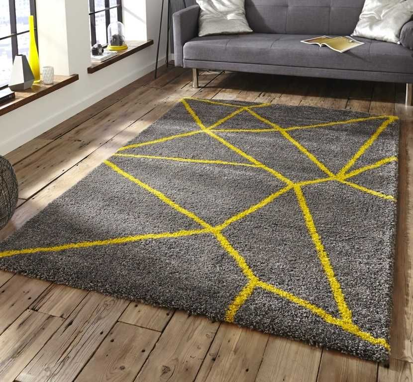 Royal Nomadic 5746 Grey Yellow Yellow Rug Modern Rugs Yellow