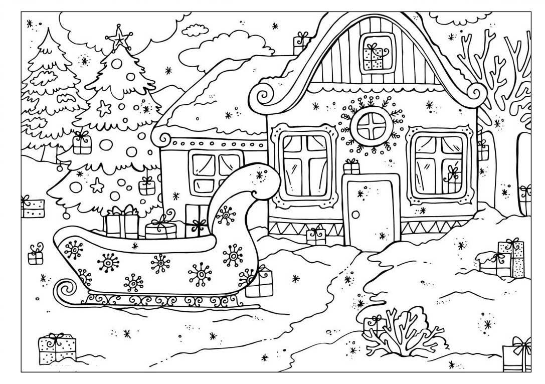 Раскраски к новому году   Christmas coloring books