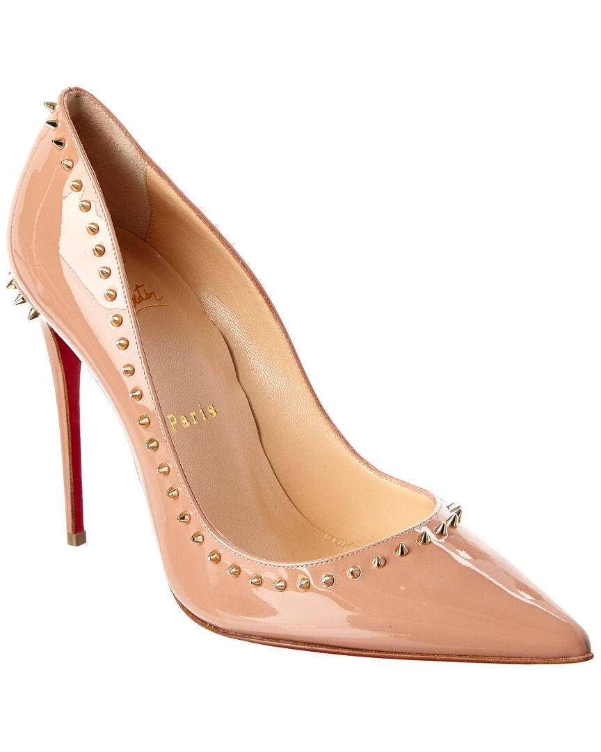 01a579fdccb Christian Louboutin Anjalina 100mm Studded Patent Pump is on Rue ...