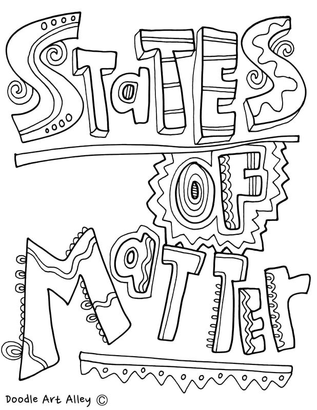 States of Matter coloring pages and printables at