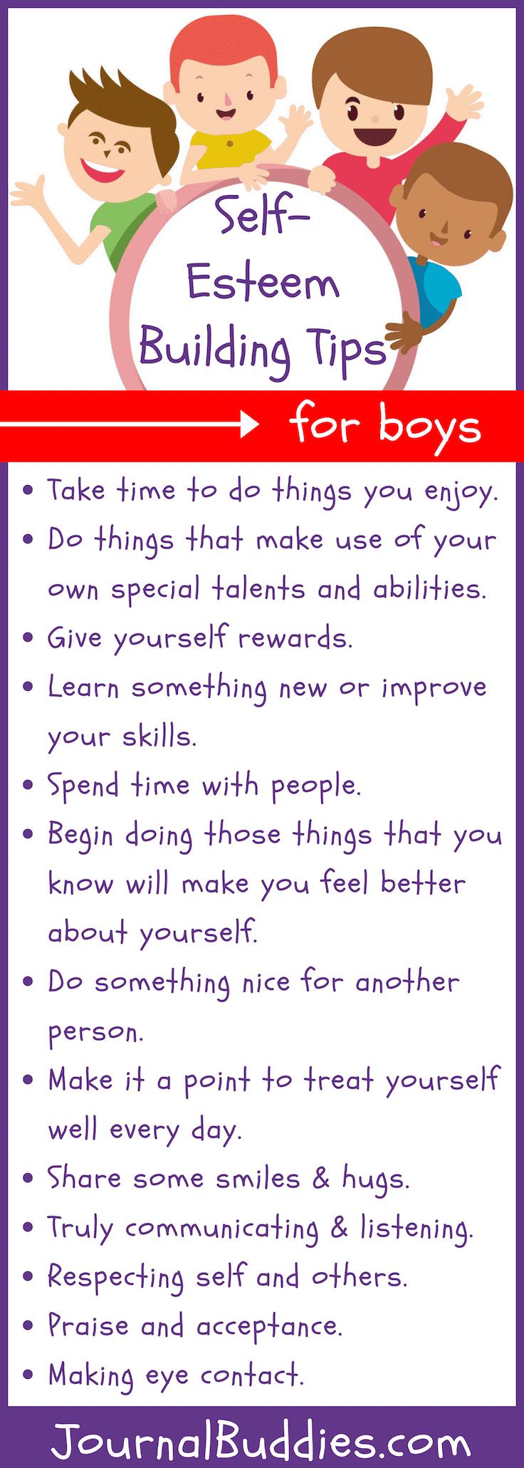 Thirteen Tips for Building SelfEsteem in Boys Building