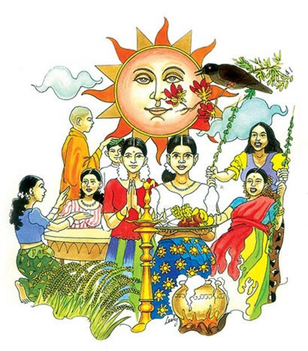 Sinhala New Year 2017 Is A Tamil New Year Festival Which Is Observed On 1st Day Of Sinhala Calendar New Sinhala New Year Wishes Wishes Images New Year Wishes