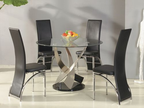 round glass kitchen table retro stoves tables and best black chairs