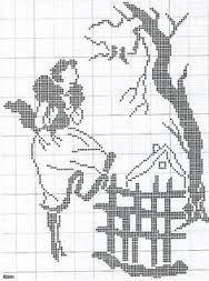 Resultado de imagem para crochet filet lady