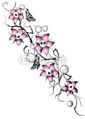 Fototapete Blume Ranke Zeichen